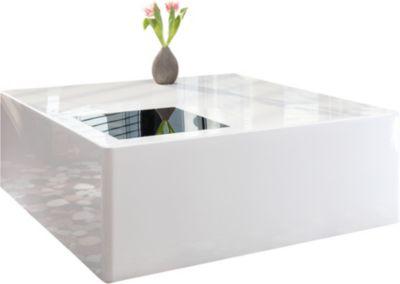 SalesFever Couchtisch, B100 x T100 x H45 cm weiß