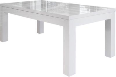 SalesFever Esstisch, ausziehbar, B180/260 x T90 x H75 cm weiß