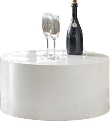 SalesFever Couchtisch, rund, Ø60 x H30 cm weiß