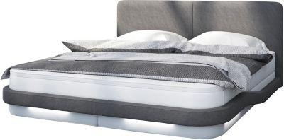 SalesFever Boxspringbett, inkl. LED-Beleuchtung, B180 x L200 cm weiß/grau