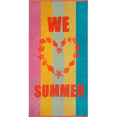 "Velours-Strandtuch ""we love summer"" 90x180cm"