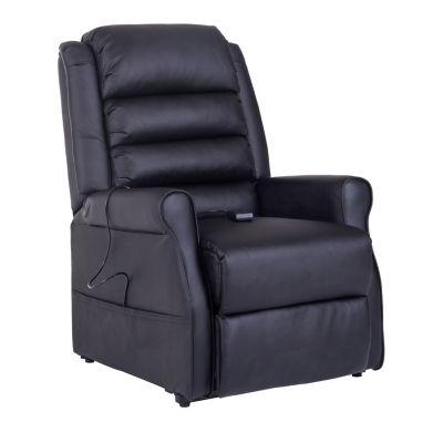 HOMCOM TV Sessel mit elektronischer Aufstehhilfe und Massagefunktion schwarz