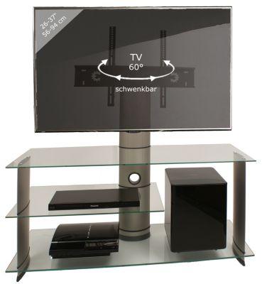 VCM TV-Rack Lowboard Konsole Fernsehtisch TV Möbel Bank Glastisch Tisch Subwoofer Schrank