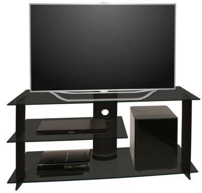 VCM TV-Rack Lowboard Konsole Subwoofer Fernsehtisch TV Möbel Bank Glastisch Tisch Schrank