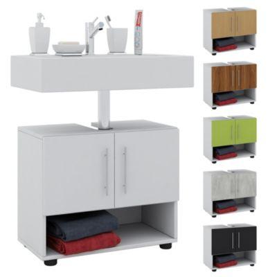 Waschbeckenunterschrank ARTA Waschtisch Unterschrank Badschrank Schubladen weiss