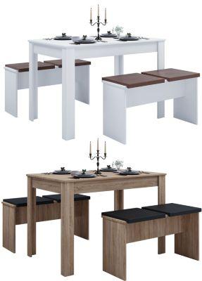 VCM Tischgruppe Sitzgruppe Essgruppe Holztisch Esstisch Tisch