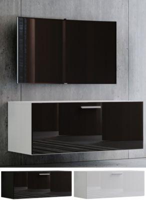 VCM TV Wand Board Fernsehtisch Lowboard Wohnwand Regal Wandschrank Schrank Tisch Hängend