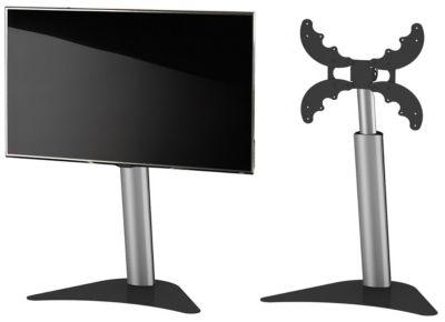 VCM TV-Standfuß höhenverstellbar LED Ständer Fernseh Standfuss Universal VESA Ständer Coscal, Höhe 92 bis 127 cm silber-kombi   Wohnzimmer > TV-HiFi-Möbel > Ständer & Standfüße   VCM