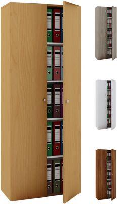 VCM Büroschrank Aktenschrank Bücherregal Standregal Aktenregal Schrank Regal Vandol, ohne Türen braun   Büro > Büroregale > Standregale   VCM