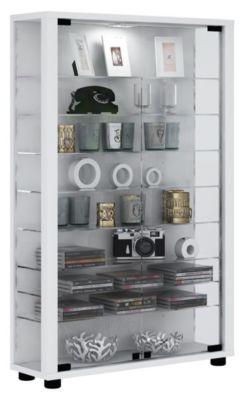 VCM Sammelvitrine Standvitrine Glasvitrine Glasregal Vitrine Glas Schaukasten Lumo Mini, ohne LED weiß | Wohnzimmer > Vitrinen > Sammlervitrinen | VCM