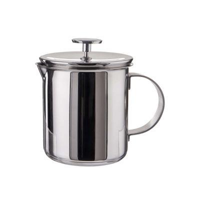 BUTLERS MILK MASTER Manueller Milchaufschäumer 400 ml silber   Küche und Esszimmer > Kaffee und Tee > Milchaufschäumer   Butlers