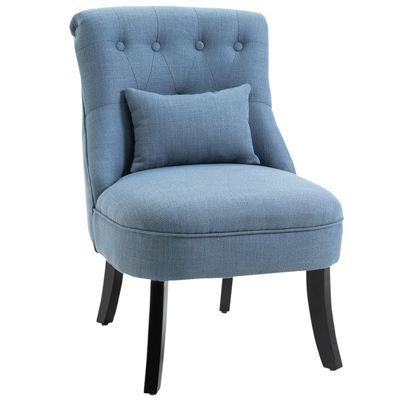 HOMCOM Relaxsessel mit Rückenkissen blau