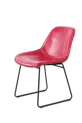 Stuhl Cora 110 2er Set Pink Rot, pink, Kayoom