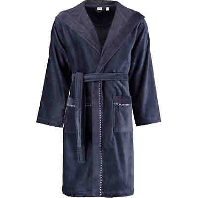 Bademantel unisex Kapuze Box navy blue - 488 Bademäntel