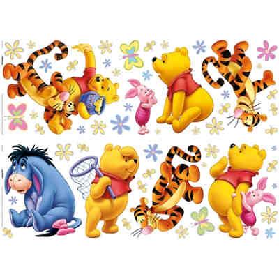Bordüre Winnie the Pooh Beautiful Day, blau, Disney Winnie Puuh ...