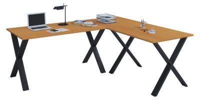 VCM Eckschreibtisch, Schreibtisch, Büromöbel, Computertisch, Winkeltisch, Tisch, Büro, Lona, 160 x 160 x 80 cm braun | Büro > Bürotische > Schreibtische | VCM