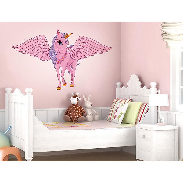 wandtattoo einhorn mit flügeln wandtattoos pink dekodino