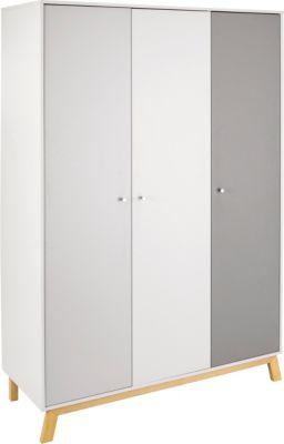 Schardt Kleiderschrank Vegas, 3 Türen weiß