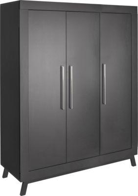 Schardt Kleiderschrank Miami Black, 3 Türen schwarz