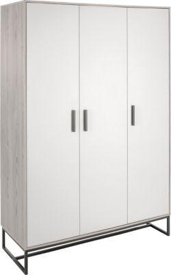 Schardt Kleiderschrank Pixie Grey, 3 Türen grau