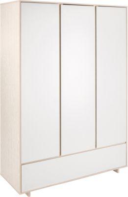 Schardt Kleiderschrank Capri White, 3 Türen weiß