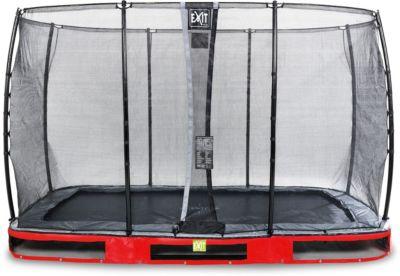 EXIT Elegant Inground-Trampolin 244x427cm mit Economy Sicherheitsnetz - rot Gr. 244 x 427 | Kinderzimmer > Spielzeuge > Trampoline | EXIT