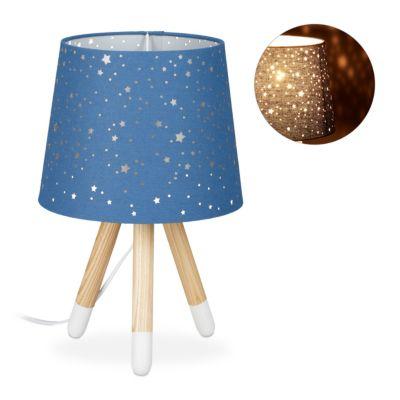 relaxdays Tischlampe Kinderzimmer Sterne blau günstig online kaufen