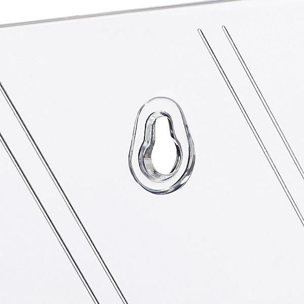 4x Flyer Aufsteller Broschürenhalter DIN A5 Wand Prospekhalter Flyerhalter Acryl