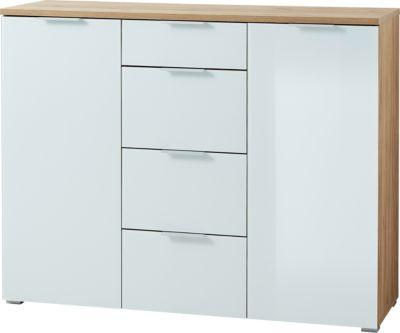 GERMANIA Sideboard B89xH105xT40 cm beige/weiß Gr. 90 x 100