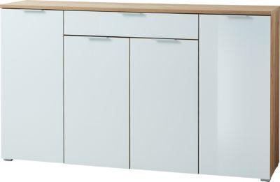 GERMANIA Sideboard B179xH105xT40 cm beige/weiß Gr. 100 x 180