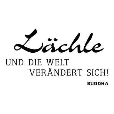 Wandtattoo Lachle Und Die Welt Verandert Sich Buddha Schwarz Dekodino Yomonda