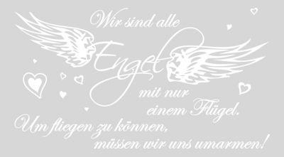 dekodino Wandtattoo Liebe Wir sind alle Engel weiß | Dekoration > Figuren und Skulpturen > Engel | dekodino