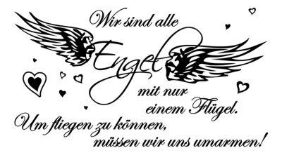 dekodino Wandtattoo Liebe Wir sind alle Engel schwarz | Dekoration > Figuren und Skulpturen > Engel | dekodino
