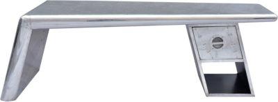 SIT Couchtisch, 132x60x45cm silber