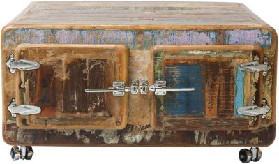 SIT Couchtisch mit Türen und Rollen, 90x90x47cm braun-kombi