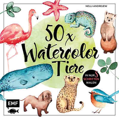 50 x Watercolor Tiere