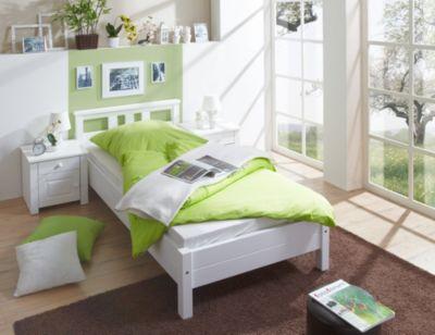 TICAA Einzelbett und Doppelbett Merci Kiefer Weiß  Einzelbett und Doppelbett Merci Kiefer Weiß weiß Gr. one size