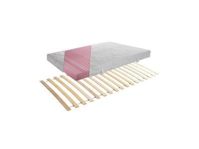 TICAA Set Rollrost + Matratze 7-Zonen Aloe Vera 90x200cm  Set Rollrost + Matratze 7-Zonen Aloe Vera 90x200cm weiß Gr. 90 x 200