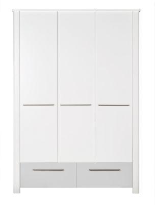Roba Kleiderschrank 3-türig LINUS weiß/beige