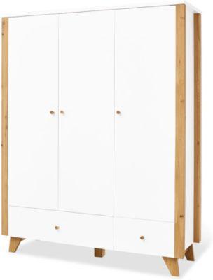Pinolino Kleiderschrank 'Thore' groß weiß/beige