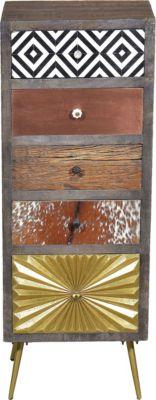 SIT Kommode mit 5 Schubladen, 45x35x120cm mehrfarbig
