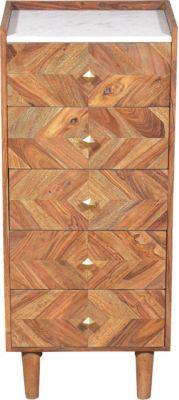 SIT Kommode mit 5 Schubladen, 45x35x105cm braun