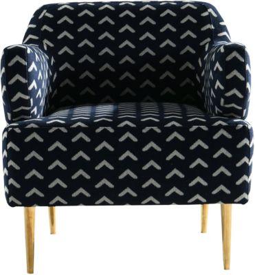 SIT Sessel, 70x75x76cm blau/weiß