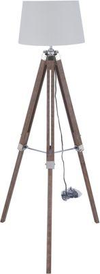 SIT Stehleuchte, 64x64x143cm braun/weiß
