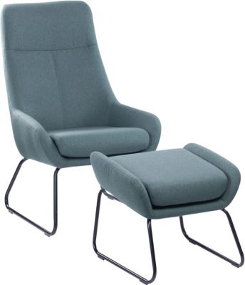 SIT Sessel mit Fußhocker, 64x77x107,5cm mint