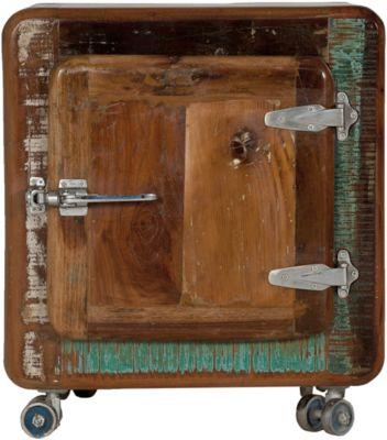 SIT Nachtkommode mit Rollen, 50x38x56cm braun-kombi