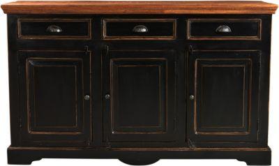 SIT Sideboard, 150x40x90cm braun/schwarz