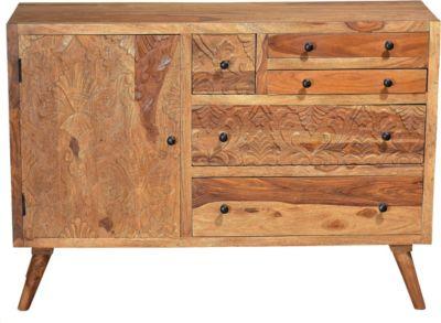 SIT Sideboard, 120x35x86cm hellbraun