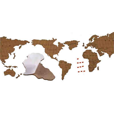 "Pinnwand ""World Map"" Puzzle aus Kork, 100x45cm"