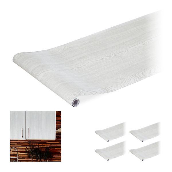 Dekofolie 200 cm Möbelfolie selbstklebend 5 x Klebefolie Möbel Holzfolie weiß